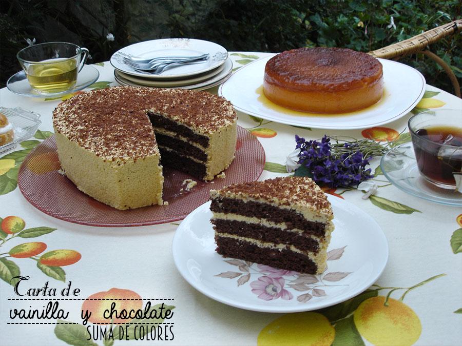Tarta de vainilla y chocolate 04