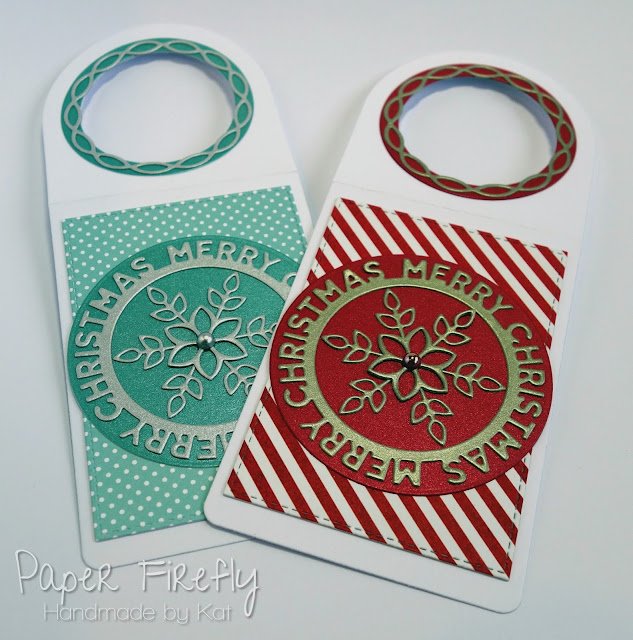 Christmas snowflake bottle tags using MFT dies