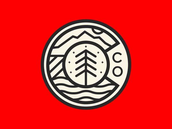 Inspirasi Desain Logo Monoline 2017 - Colorado Monoline Logo