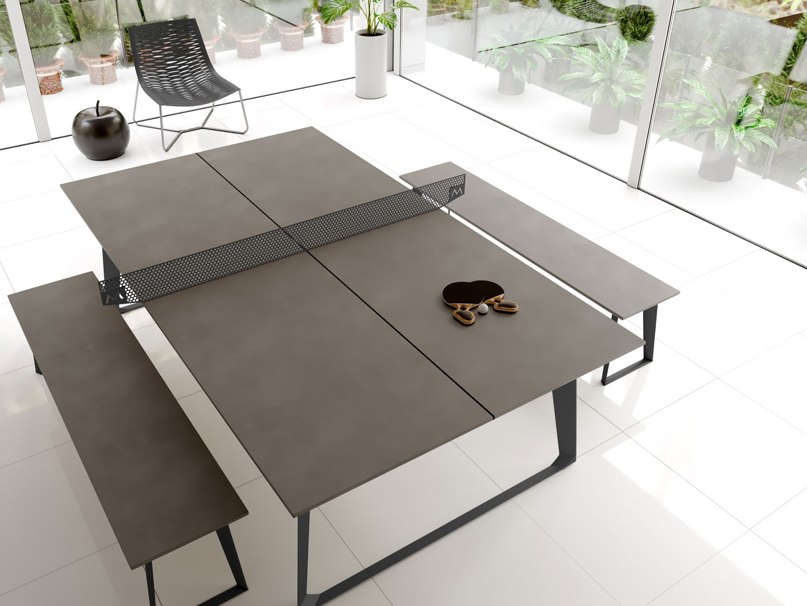 Ping pong table (credit to https://modloft.com/store/Game-Tables/Amsterdam-Ping-Pong-Table)