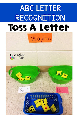 Letter Toss Game for Letter Recognition and Letter Identification Activities