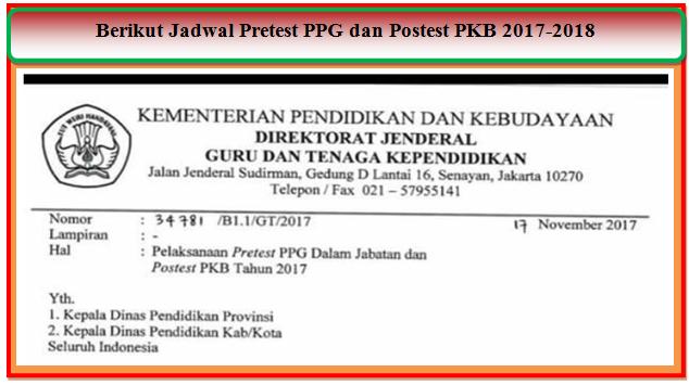 Berikut Jadwal Pretest PPG dan Postest PKB 2017-2018