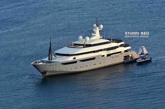 Το super yacht Azteca στο Ναύπλιο