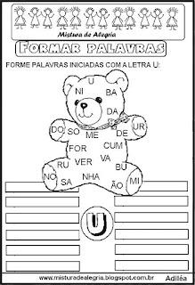 Formar palavras com a letra U