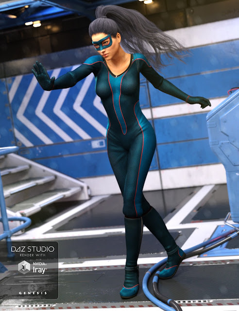 Super Bodysuit Planetary Textures for Genesis 3 Female