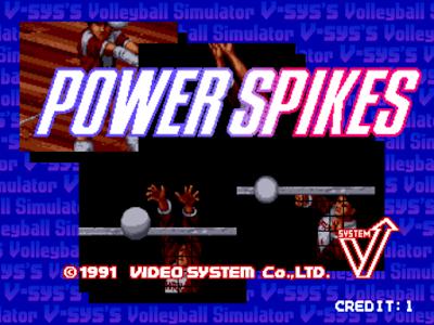 街機:超級能量排球+作弊碼,Super Volley、Power Spikes!