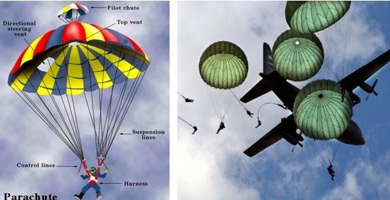 Pilot parachutes
