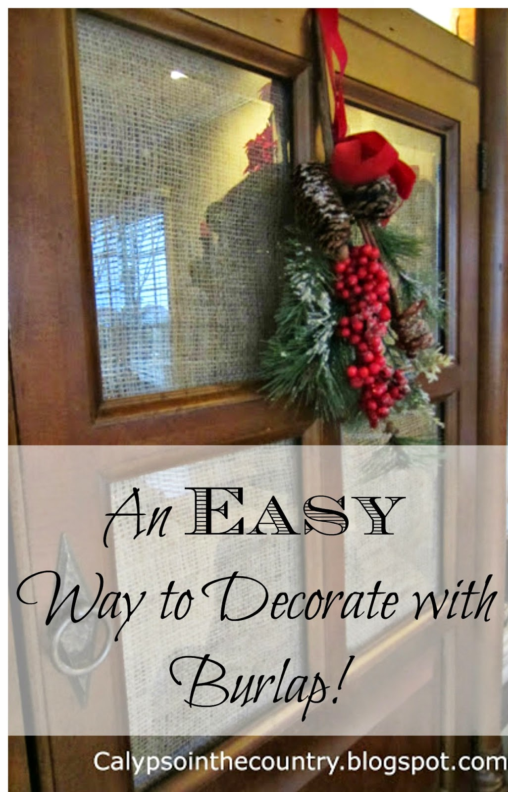 Easy Way to Decorate with Burlap