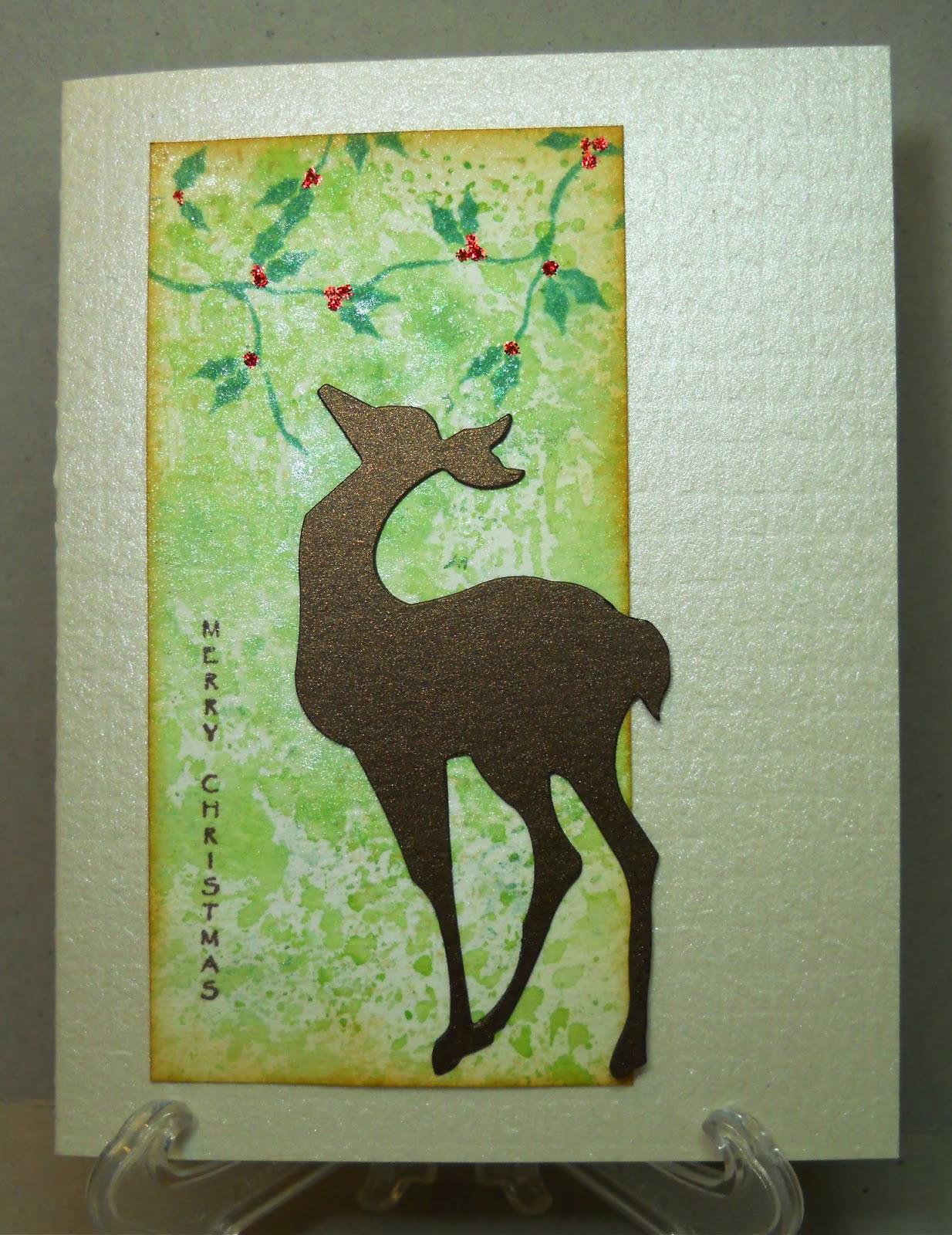 Gold Glitter Metallic Bronze /& Brown Glitter Christmas Reindeer Die Cuts 15 Count