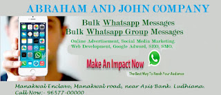 Abraham and John company - most trusted Bulk WhatsApp Marketing & Digital Advertisement  service Provider