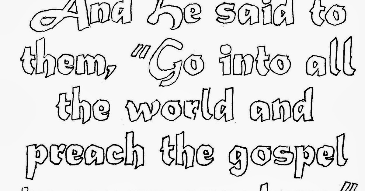 coloring pages for kids by mr  adron  go preach the gospel