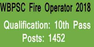 WBPSC Fire Operator 2018