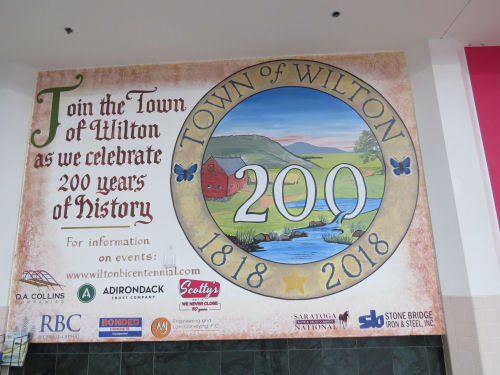 commemorative sign Town of Wilton