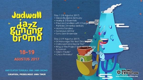 Jadwal Jazz Gunung Bromo 2017