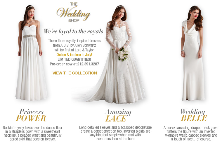 67a4dce54fd ... A.B.S. by Allen Schwartz s gorgeous gowns. Hours after the royal  wedding
