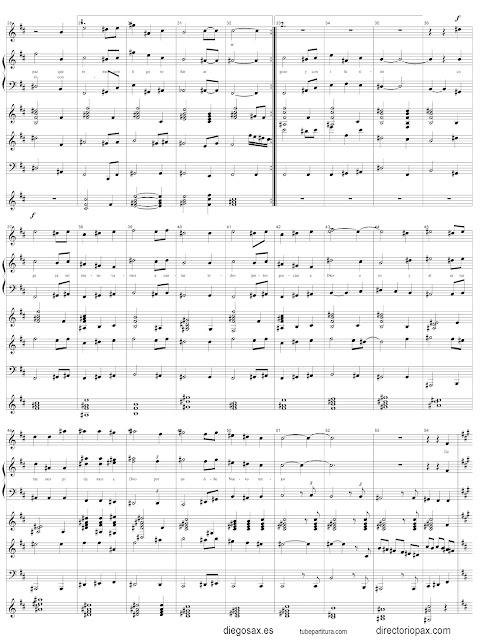 Partitura del Villancico Ya llegó Navidad para orquesta de cuerda y voz
