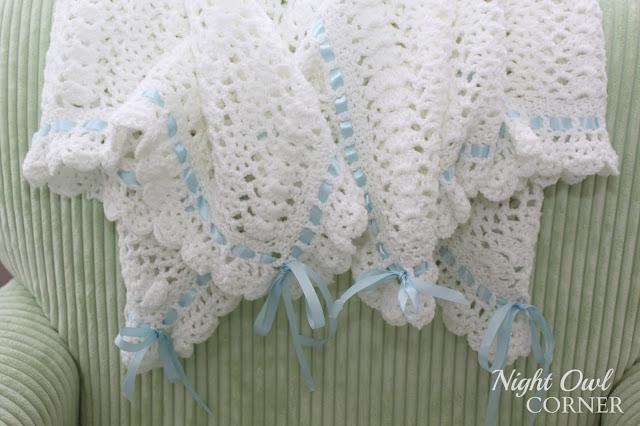 Night Owl Corner Ribbons And Ruffles Baby Blanket