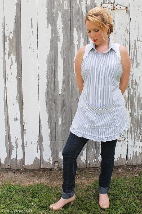 Men's Dress Shirt Apron - Love Grows Wild