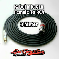 Kabel Mic XLR  3 Meter RCA to Female