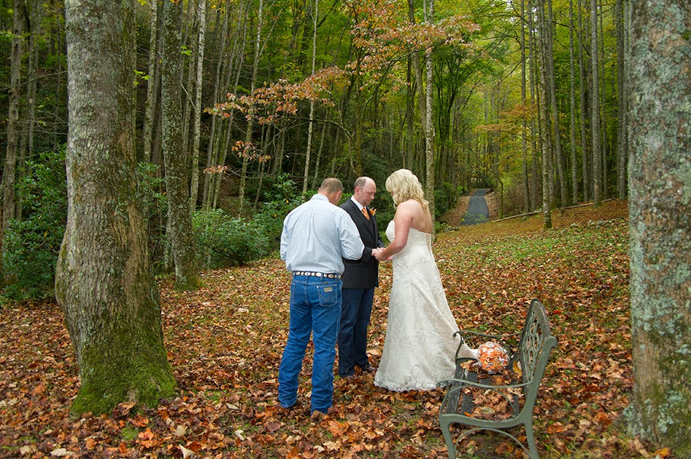 Wedding In The Ious Mountain Yard Of Starkey S Cabin