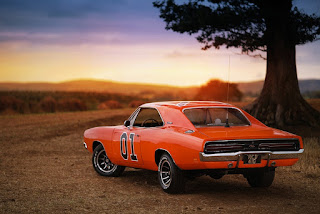 1969 Dodge Charger R/T General Lee Car Rear