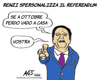 referendum costituzionale, renzi, comitati del NO, personalizzazione, satira, vignetta