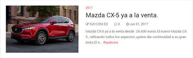 Mazda CX-5 ya a la venta