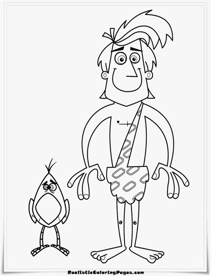 George Of The Jungle Cartoon Coloring Pages