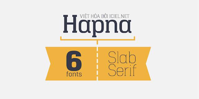 [Slab Serif] Hapna Việt hóa
