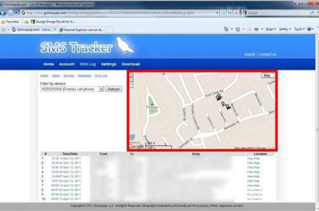 lokasi sms tracker