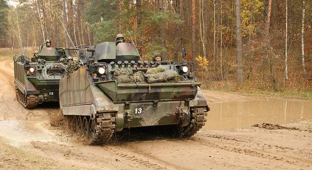 mechanized infantry APCs