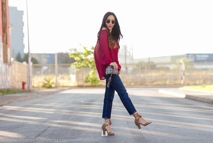 Influencers bloggers instagramers de moda belleza con looks con hombros al aire