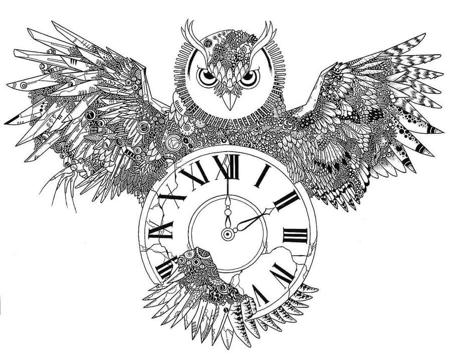 09-Owl-and-clock-Rocky-Villaruel-www-designstack-co