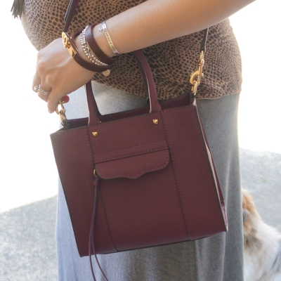AwayFromTheBlue | Rebecca Minkoff mini MAB tote in plum