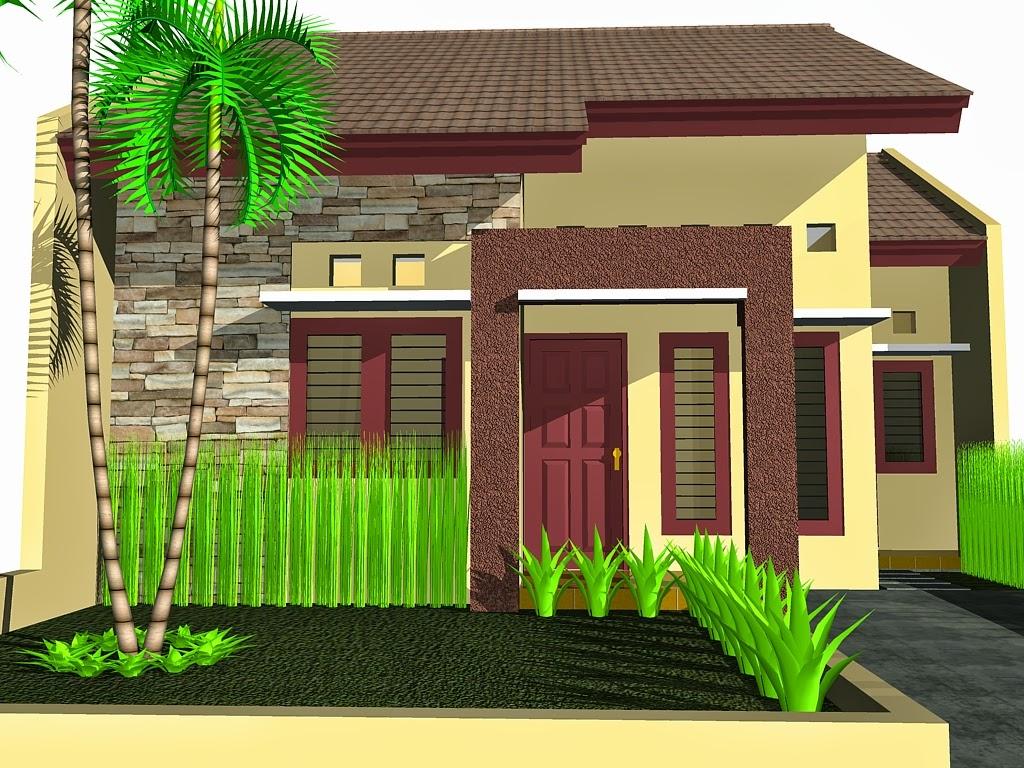 Model taman rumah Rumah minimalis modern