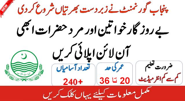 (240+Vacancies) Punjab Govt Jobs 2020 Apply Online