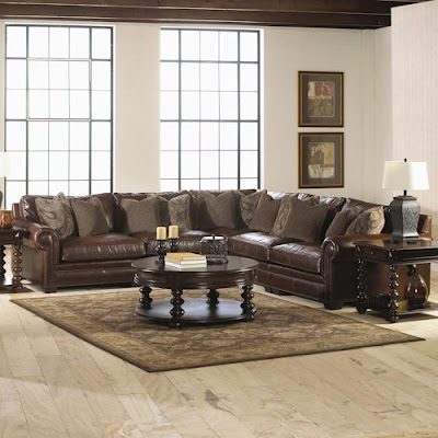Grandview leather sectional at Baer's Furniture
