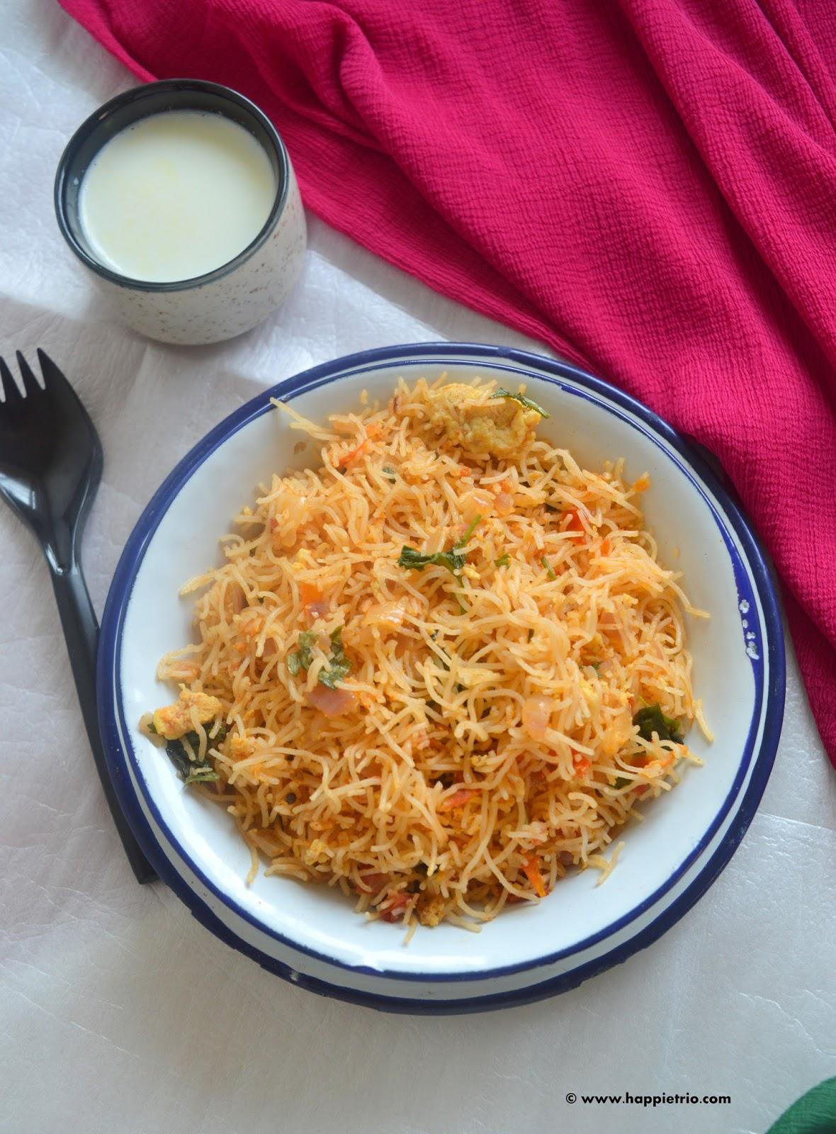 Egg Kothu Idiyappam