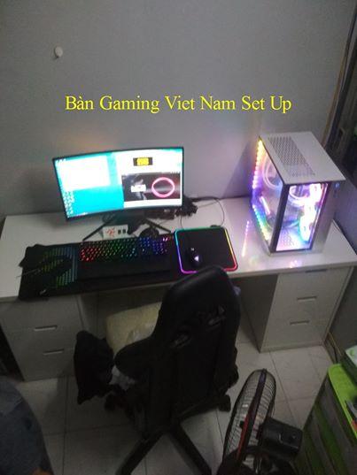 Bàn Gaming Ikea FULL WHITE