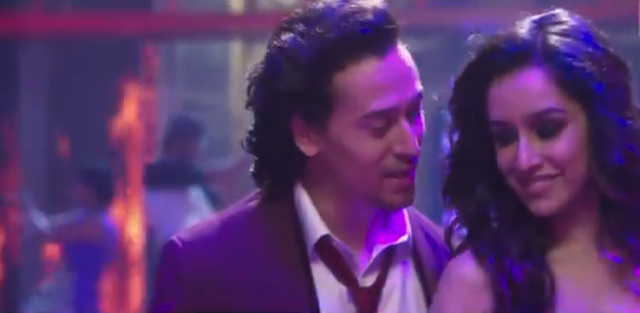 Tiger Shroff and Shraddha Kapoor in the song LetsTalkAboutLOVE from the movie  Baaghi.