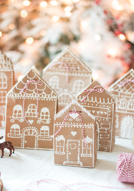 Christmas Gingerbread House Paper Bags