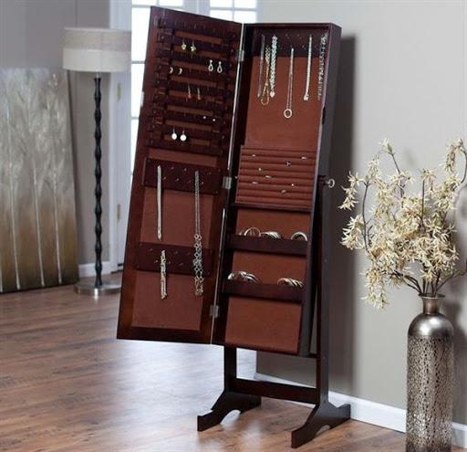 modern jewelry armoire