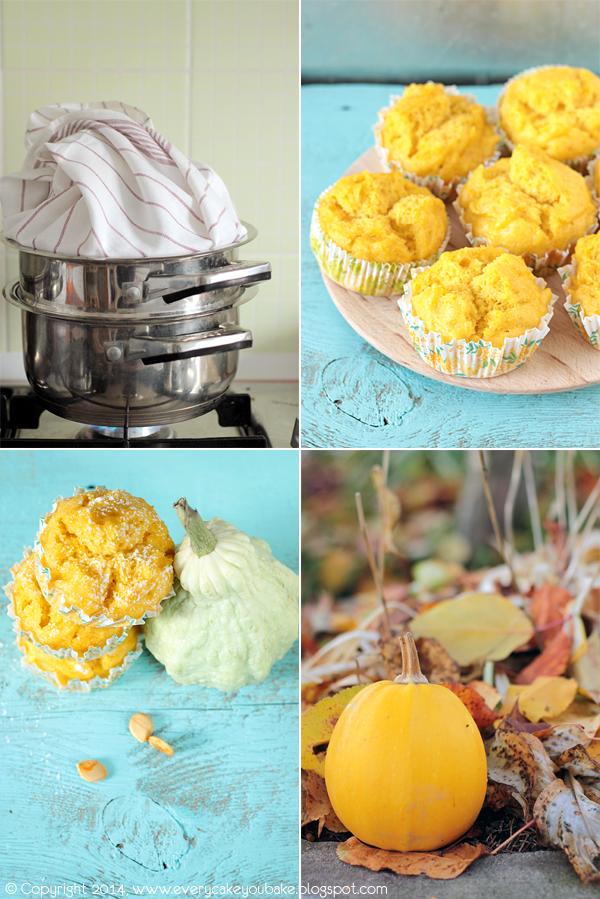 puszyste muffinki dyniowo-kokosowe na parze