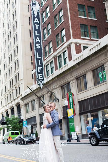 Couple Photography, Tulsa Wedding, Atlas Life Building