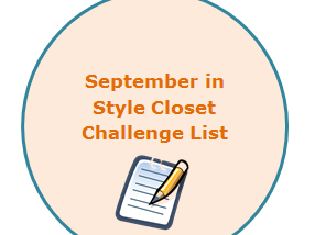 Fashion- September in Style Closet Challenge list ✍👚