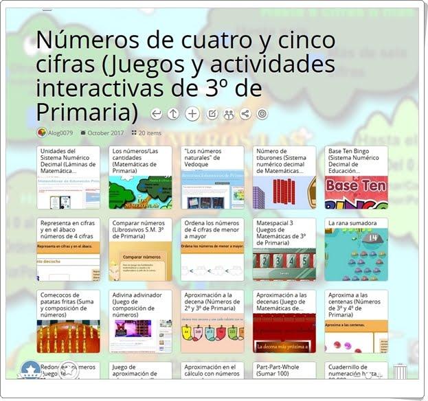 """""""20 Juegos y actividades interactivas para trabajar los NÚMEROS DE CUATRO Y CINCO CIFRAS en 3º de Primaria"""""""