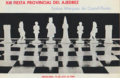 Anverso de la invitación a la XIII Fiesta Provincial del Ajedrez 1966