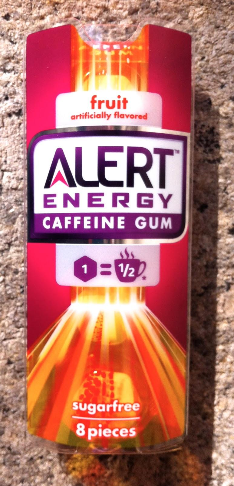Obsessive Sweets: Wrigley Alert Energy Caffeine Gum Banned: I'm