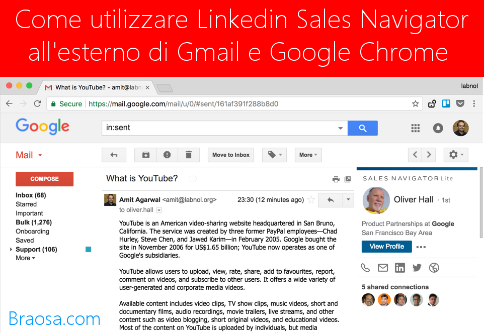 Come utilizzare LinkedIn Sales Navigator all'esterno di Gmail e Google Chrome