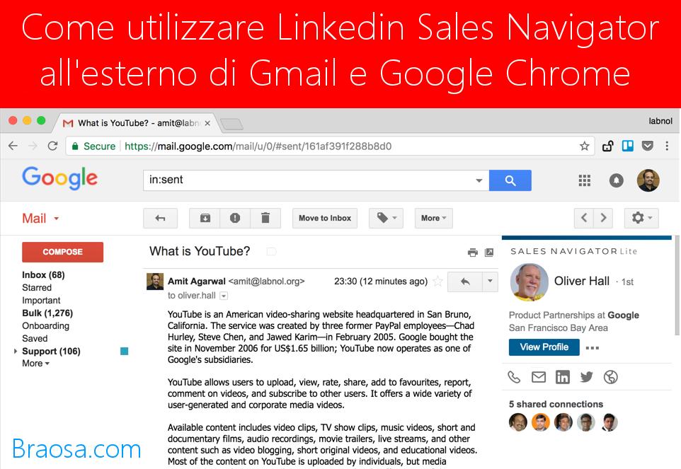 Come utilizzare LinkedIn Sales Navigator all'esterno di Gmail e Google Chrome